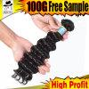 卸し売りブラジルの人間の毛髪の織り方は束ねる黒いかつら(KBL-BH)を