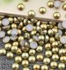 Украшение Rhinestone ногтя яркия блеска украшения перлы ногтя Aurum оборудует наполовину вокруг перлы ABS перл (rhinestone ногтя tP-aurum)