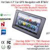 Hot Sale 4.3 voiture camion Marine Navigation GPS avec la Russie européenne Brésil carte GPS, FM Transmetteur Bluetooth, AV-in de la caméra arrière, système de navigation GPS de poche