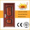 現代デザイン安全入口の鋼鉄細工したドア(SC-S142)