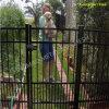 装飾用の鋼鉄塀のゲートの障壁の塀のゲート(XM-G11)