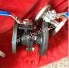 2 parti Stainless Steel Flanged Ball Valve con Mounting Pad