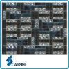 Schönes Black Crystal Glass/Stone Mosaic Tile für Interior Decoration