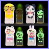 Éclair lumineux de protection en silicone de téléphone de dessins animés en 3D Étui pour iPhone 6s 6 Plus le manchon avec cordon