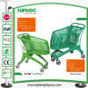 Neuer Supermarkt-volle Plastiklaufkatze
