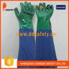 Ddsafety 2017の二重カラーPVC長い袖のGreen&Blueの乳液の手袋