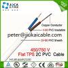 Cavo piano solido di rame del PVC Insulation&Sheath TPS