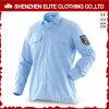Рубашки работы хлопка людей длинней втулки высокого качества голубые (ELTHVJ-296)