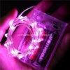 Fio de cobre feericamente da estrela cor-de-rosa da luz da corda do bloco da bateria 3AA para a decoração do feriado do Xmas