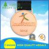 Las medallas del baloncesto del metal/del deporte/del maratón de la cinta del cuello liberan la fabricación del diseño