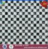 Mosaico blanco y negro del cristal del vidrio de mosaico de la grieta del hielo de las pequeñas virutas