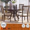 カシの食堂の夕食の木の純木の机椅子