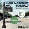 cadre postal de Mailboxs 64 de boîte aux lettres classique de fonte d'aluminium
