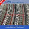 Tuyau de tuyau de décharge renforcé en acier PVC anti-statique