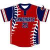 Sublimé de l'équipe de baseball personnalisé Tee-shirts en haute qualité
