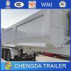 3개의 차축 유압 정면 드는 40m3 80 톤 팁 주는 사람 트레일러