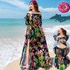 Хлопок Dress Slits в пляжном комплексе Dress G104 Front