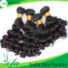 Человеческие волосы индейца цвета прелестных волос девственницы скручиваемости самых точных естественные