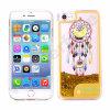 Caja líquida de destello ligera colorida del teléfono de la arena movediza del brillo del LED para el iPhone 6s