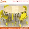 Mesa redonda e cadeiras dos assentos de madeira das crianças 4 para o centro de infância adiantada