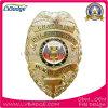 Oficial personalizadas placa de policía de metal chapado en oro.