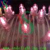 O grampo 2016 novo da cor-de-rosa do Natal do diodo emissor de luz ilumina luzes da corda da decoração