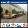 13m 2axle Grande-Gooseneck High Tensile Steel Lowbed Trailer Without Cover su Tire