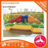 El arco iris educativo de los juguetes del conjunto suave del arrastre embroma la escalera suave del juego