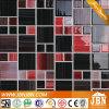 Peignant la mosaïque en verre noire et rouge pour le mur et l'étage (G455009)