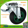 Container residuo Brake Caster con Black Rubber Wheels