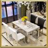 ステンレス鋼の贅沢な食堂大理石表および椅子セット