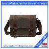 Cuoio genuino superiore della retro del messaggero di spalla tela di canapa ad alta densità del sacchetto (MSB-025)