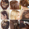 Abrazaderas multi de la pinza de pelo de la horquilla de la plata del oro de los diseños