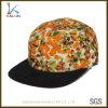 Spazio in bianco floreale giallo 100% del cappello di Snapback dei 5 comitati del cotone di abitudine