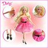 소녀를 위한 안전한 비독성 다채로운 플라스틱 소녀 인형