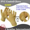 10g Браун полиэстер / хлопок трикотажные перчатки с 2-х сторон Браун ПВХ Criss-Cross покрытие / EN388: 124x