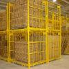 Recipiente de armazenamento Foldable do engranzamento de fio de aço para o armazém industrial