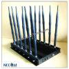 Stationnaire 12 bandes Jammer pour tous les 3G 4G téléphones cellulaires, télécommande de voiture, radio VHF / UHF, GPS, Wi-Fi Jammer Cpjx12