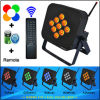 Afstandsbediening 9PCS 10 Watts RGBWA 5in1 Wireless Op batterijen LED up Lights