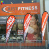 Advertizing ao ar livre Custom Polyester Flag, Fabric Printing Banner Flag para Advertizing