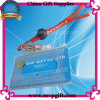 Suporte de cartão de plástico com cordão