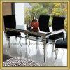 Tabela de jantar francesa moderna de Louis da mobília do aço inoxidável