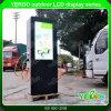 Quiosque ao ar livre da tela de Digitas LCD personalizado anunciando o indicador