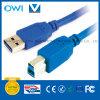 USB 3.0 um macho ao cabo do macho de B