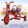 El triciclo de niños de los asientos del diseño simple dos embroma el triciclo del bebé del triciclo