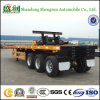 De op zwaar werk berekende Flatbed Aanhangwagen van de Vrachtwagen en Uitzetbare Semi Aanhangwagen