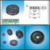 Flanged di plastica Ceramic Wire Guide Pulley per Drawing Wire