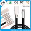 Interface van het Roestvrij staal van de Lijn van de Kabel 2A van de Lader van de Last USB van de Kabel van gegevens de Snelle voor Androïde Smartphone