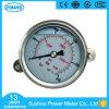 indicateur de pression rempli par liquide d'acier inoxydable de 2.5  63mm avec la bride