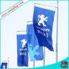 Polyeser рекламируя флаги на дороге, рекламируя знамена на улице